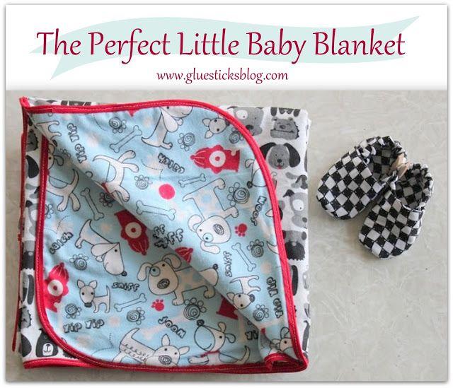 flannel baby blanket gluesticks tutorial - Flannel Blanket