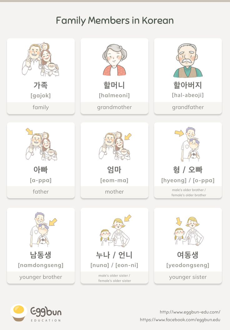 Family Members in Korean Chat to Learn Korean with…