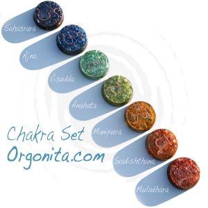 Set de chakras   orgonitas para terapia y armonia fisica o ambiental ---  http://www.orgonita.net/tienda/set-orgonita-chakras-personalizado.html