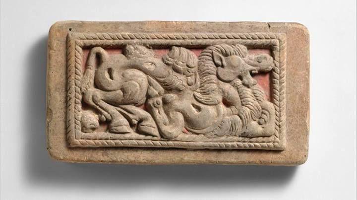 Casting Model for Belt Plaque Date: 2nd–1st century B.C.  Culture: North China-Xiongnu Medium: Clay Dimensions: L. 4 1/2 in. (11.4 cm)  Classification: Ceramics The Metropolitan Museum Of Art/New York.