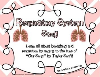 """Respiratory System Song (Lungs, Breathing, Respiration) sing to the tune of """"Our Song"""" by Taylor Swift"""