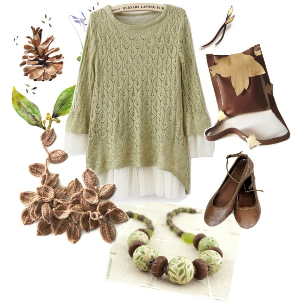 """handmade autumn"" by antigoni-pagali on Polyvore"