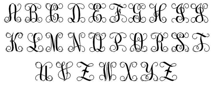 vine monogram font free download - Google Search