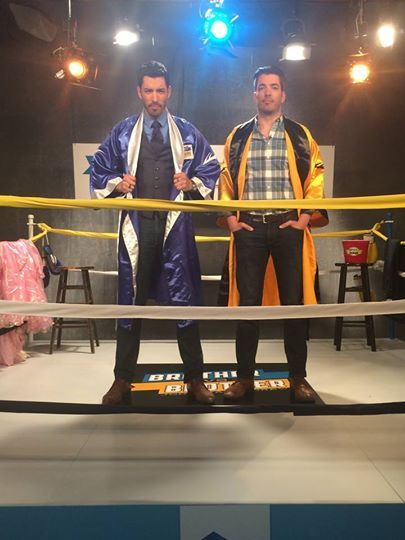 Alright @mrsilverscott Round 2, #BroVsBro in the ring tonight at 9pm e/p on HGTV US. Good luck, you'll need it!! #TeamDrew