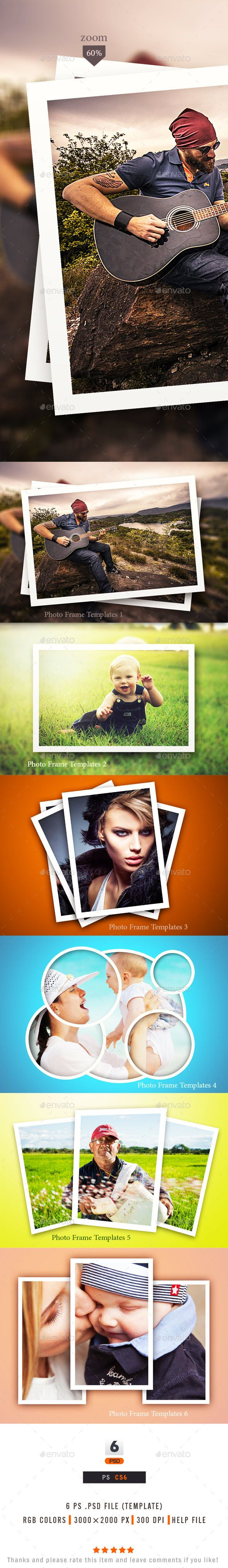Photo Frame  -  PSD Template • Download ➝ https://graphicriver.net/item/photo-frame-templates/10367986?ref=pxcr