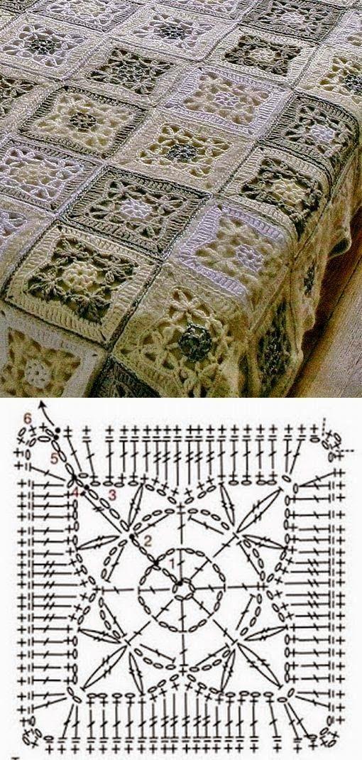 FIFIA CROCHETA blog de crochê : colcha de crochê com gráfico