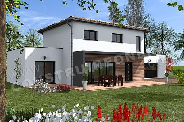 Plan de maison etage moderne boca 5 en 2019 plan maison - Plan maison 5 chambres gratuit ...