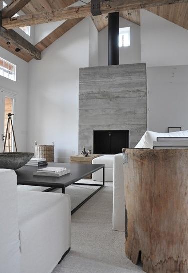 voorbeeld van buis in combi met beton/stenen openhaard. Maar dan wel kleiner