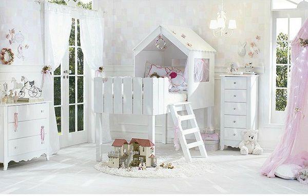Lindo quarto de menina decorado camade casinha