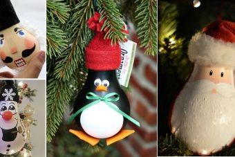Récupérez les ampoules! Faites-en des boules de Noël! Plus de 50 Modèles à voir!
