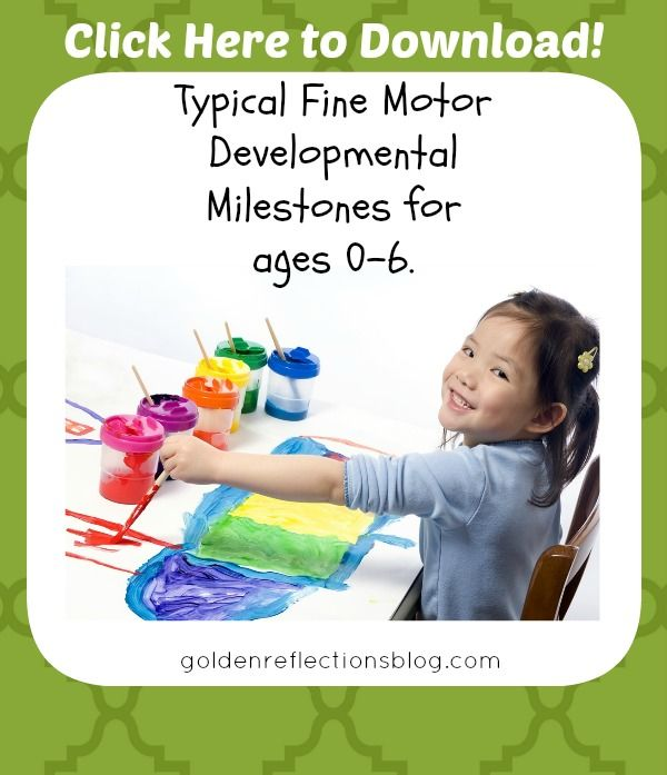 Typical Fine Motor Development Graphic