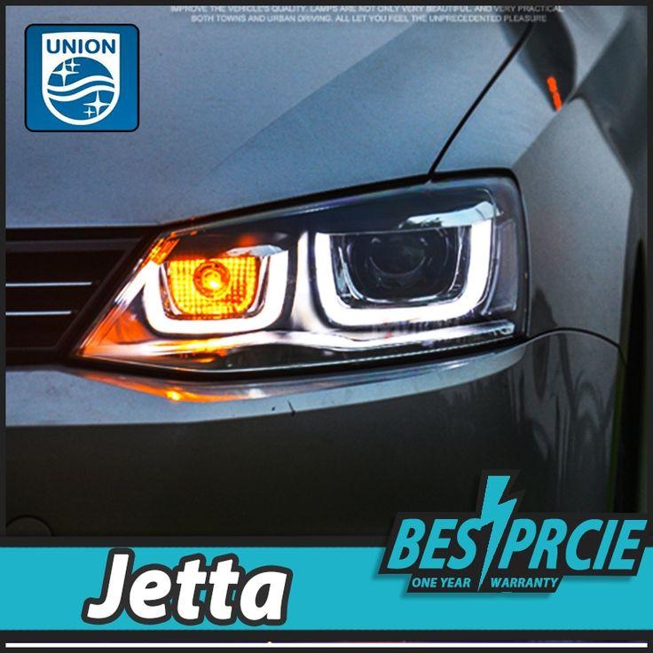 578.00$  Watch here - http://aicjk.worlditems.win/all/product.php?id=32750809571 - UNION Car Styling for VW Jetta Headlights 2011-2015 New Jetta MK6 LED Headlight DRL Bi Xenon Lens High Low Beam Parking Fog Lamp