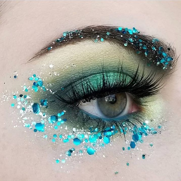 Sparkle Aqua Makeup #makeuptips #makeuplooks #makeup #beauty #haircare