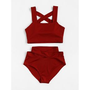 Color: Red Type: Bikinis Style: Vacation, Sexy Top: Push Up Size Available: S, M…