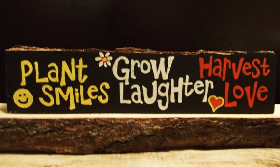 Whimsical gardening messages are handpainted on by expressionshop, $22.00