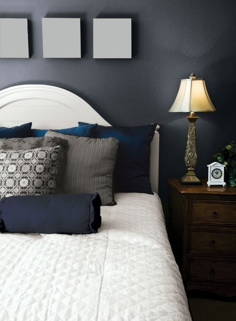 Blue Undertone Grey Paint Great For Master Bedroom