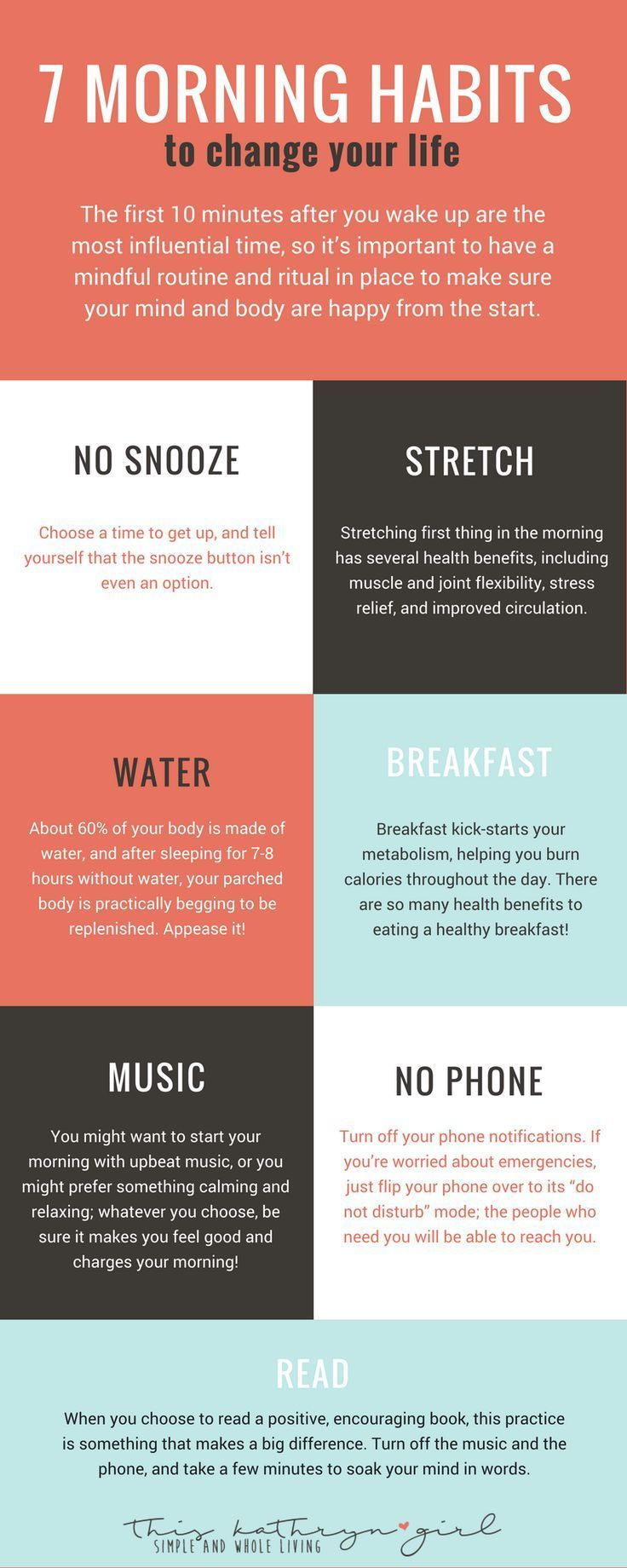 7 Easy Healthy Morning Habits for an awesome morning routine