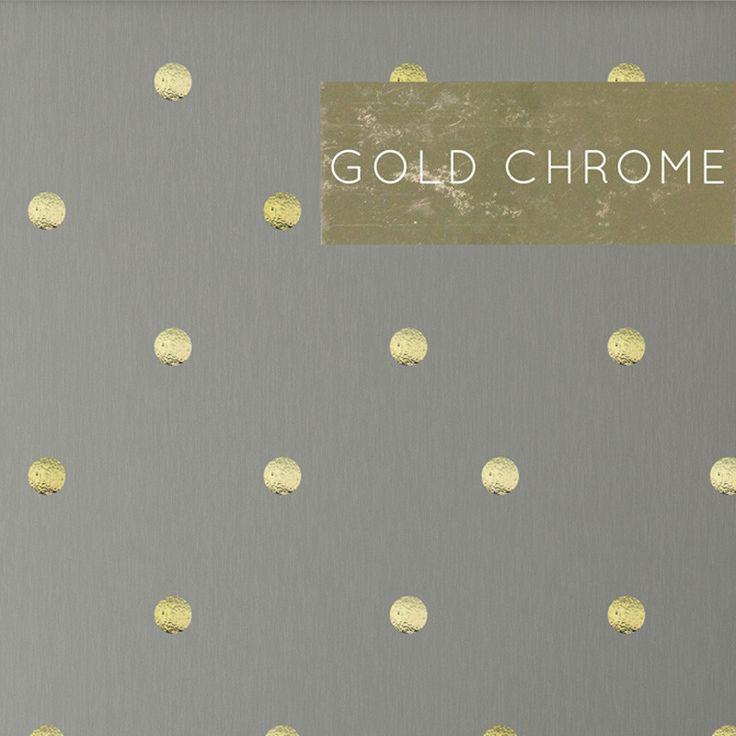 Gold Chrome Polka Dots