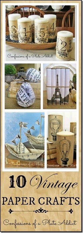 Vintage Paper Crafts plus How to Age Paper