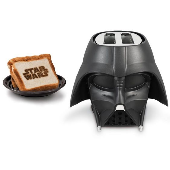 Darth Vader Toaster - $49.95  http://www.goofygaggifts.com/darth-vader-toaster/  #starwars #toaster #cooking