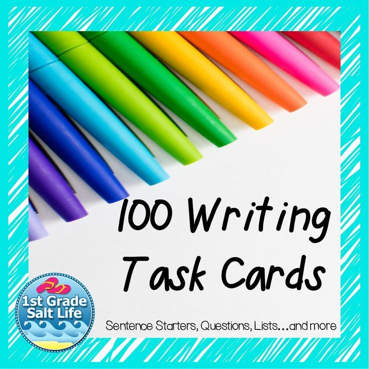 1st Grade Writing Prompts (great for K and 2nd Grade). 100 different cards included!