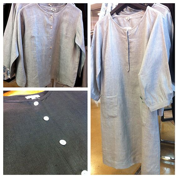 James & Hill of Bendigo Patch Pocket Dress & Jacket in lovely Black or Silver Linen - ethically sourced and made in India