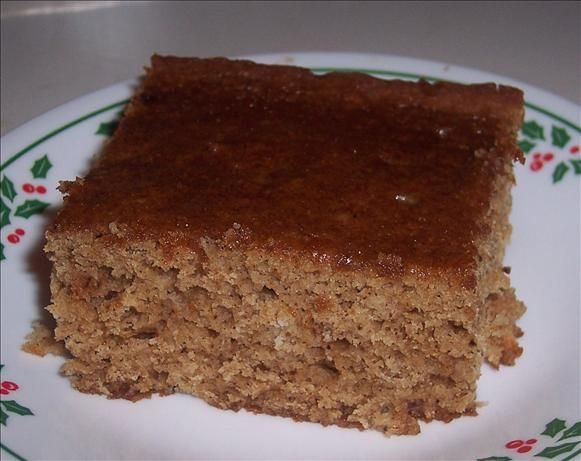 Applesauce Cake. It's very moist and delicious all by itself, but even yummier with a dollop of whipped cream!  You can add raisins and/or walnuts if you'd like, but it's perfect fall eating!