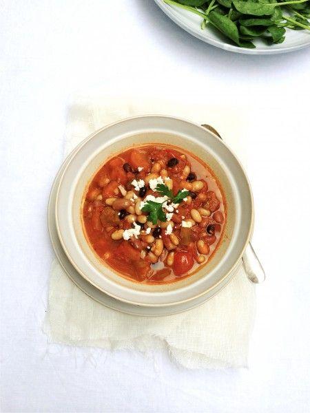 Bonen in tomatensaus (met spekjes) maar dan anders made by ellen #comfortfood #recept