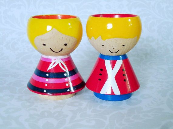 Mid Century Helen and Mogens Lyholmer Eggcups or Candle Holders - Danish Modern Wooden Egg Cup Holders on Etsy, $78.00