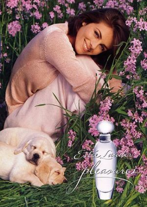 Perfume ads   mylusciouslife.com   estee lauder perfume ad pleasures elizabeth hurley Know your fashion history: Perfume perfection