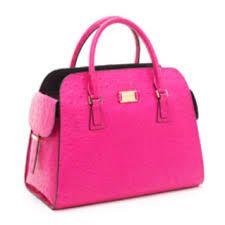 A bold coloured handbag shows your creative side