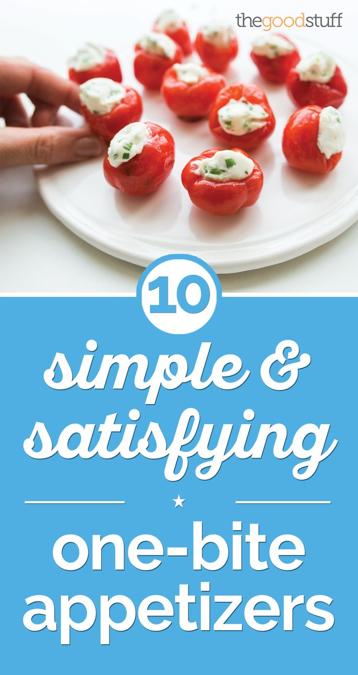 10 Simple & Satisfying One-Bite Appetizers | thegoodstuff