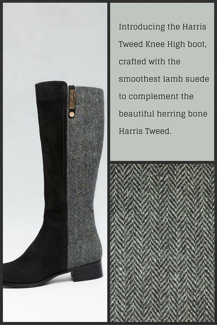 Crafted with smoothest lamb suede to complement the beautiful herringbone #HarrisTweed