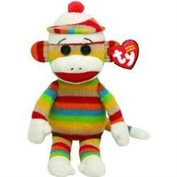 #Rainbow Stripe #SockMonkey #BeanieBaby by #Ty Crafted from the bestselling Ty Silk fabric and stuffed with plenty of soft filler beans. With adorable animals and seasonal favorites, there's a Beanie Baby for everybody!   Monkey see, monkey do your #classroom #decorations right with a Colorful Sock Monkey theme! Let these awesome resources swing you into action this #school year with high energy and contagious excitement.