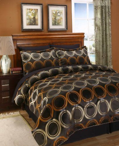 6 Pc. High Quality Twin Size Jacquard Bed in Bag Comforter Bedding Set by 2K