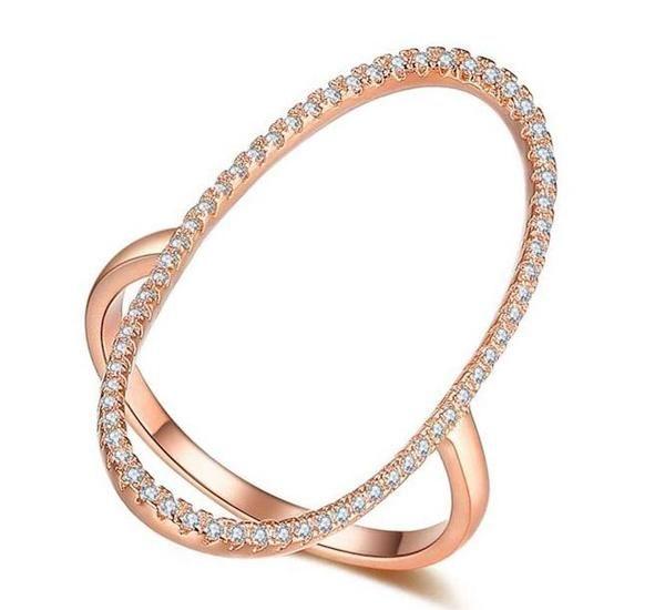 Luca Open Circle Diamond Ring - Rose Gold #stackablering #trendyjewelry #trendyring #rosegold #rings