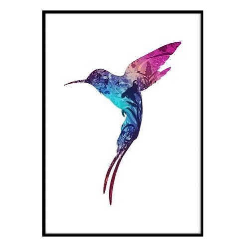 Poster - Forest kolibri 30x40 cm
