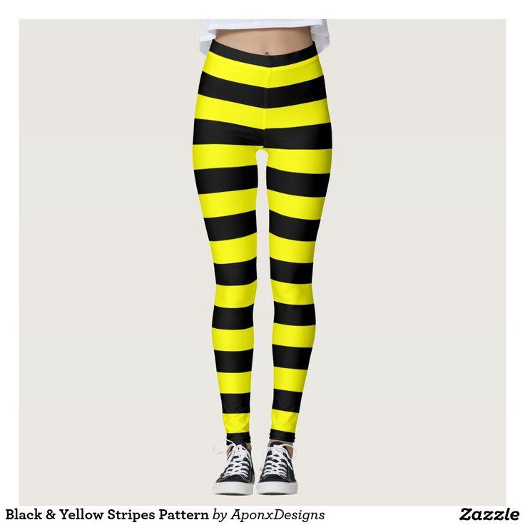 Black & Yellow Stripes Pattern