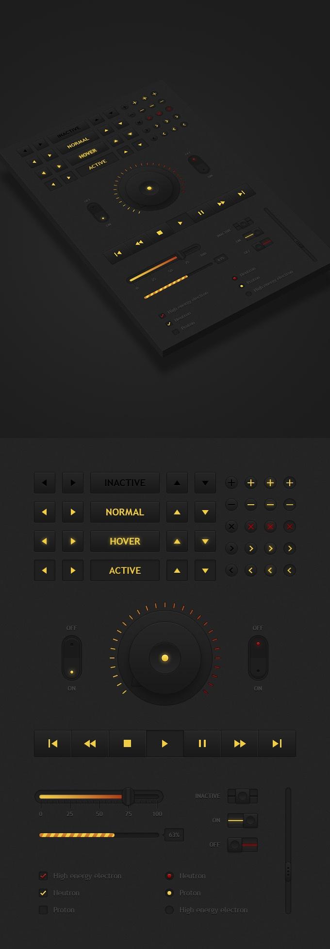 Nuclear UI  by Sergey Azovskiy