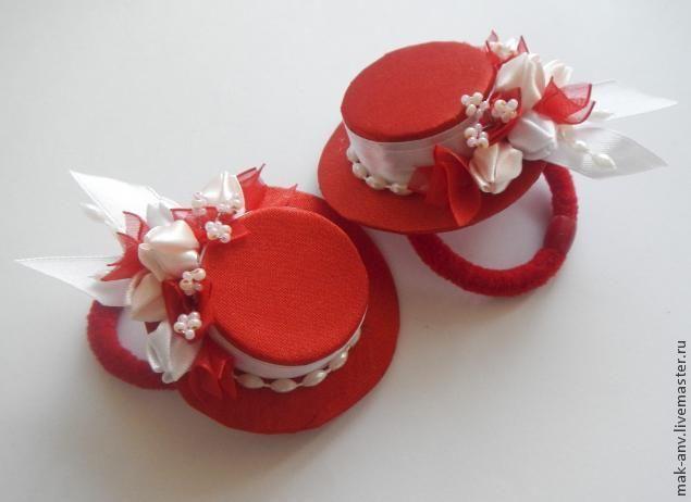 """Мастерим украшение для волос """"Шляпка на резинке"""" - Ярмарка Мастеров - ручная работа, handmade"""
