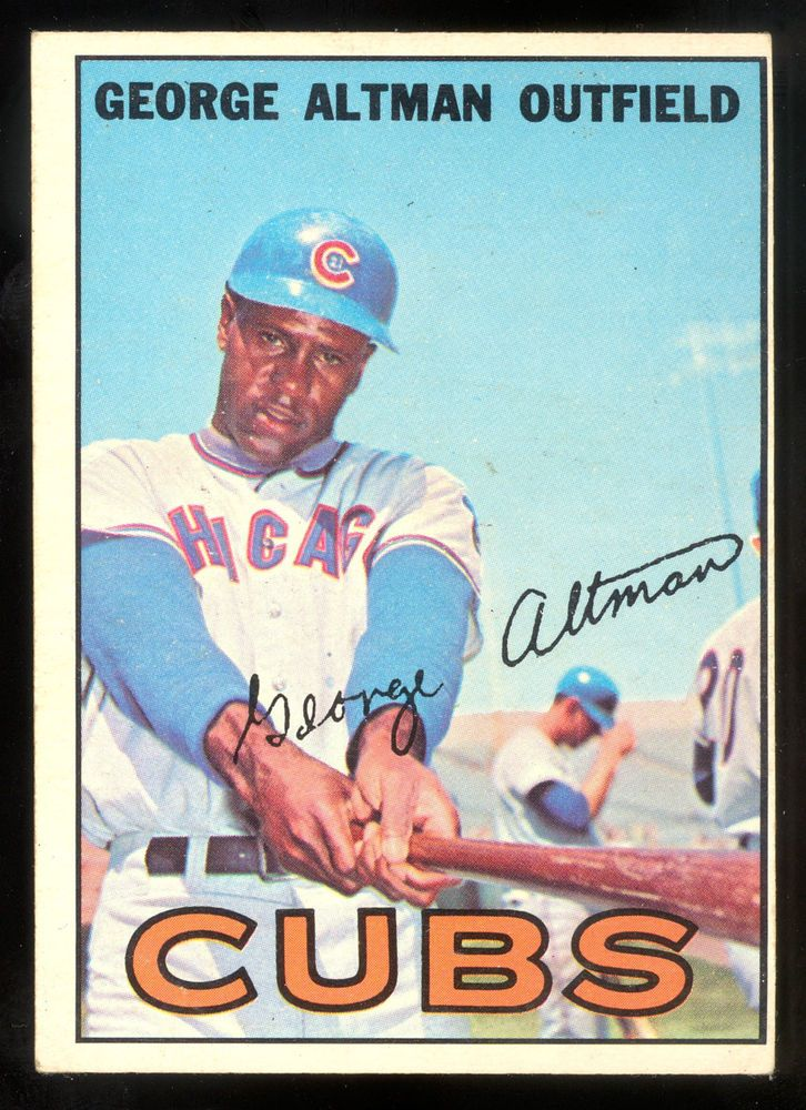 1967 TOPPS OPC O PEE CHEE BASEBALL #87 GEORGE ALTMAN  VG-EX CHICAGO CUBS CARD #ChicagoCubs