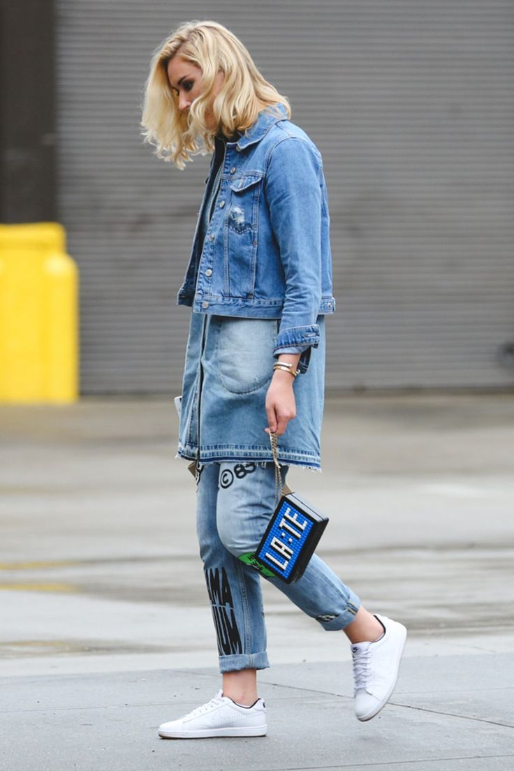 The Most Authentically Inspiring Street Style From New York #refinery29  http://www.refinery29.com/2015/09/93788/ny-fashion-week-spring-2016-street-style-pictures#slide-36  Denim on denim...on denim....