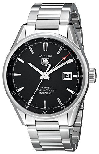 Tag Heuer CarreraΒ  WAR2010.BA0723 41mm Automatic Silver Steel Bracelet http://www.thesterlingsilver.com/product/philip-watch-mens-watch-analogue-xl-leather-r8271996001-quartz/