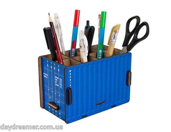 Органайзер для ручек и карандашей Контейнер – Container Box (синий)