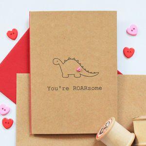 cute little card, 'you're ROARsome'...