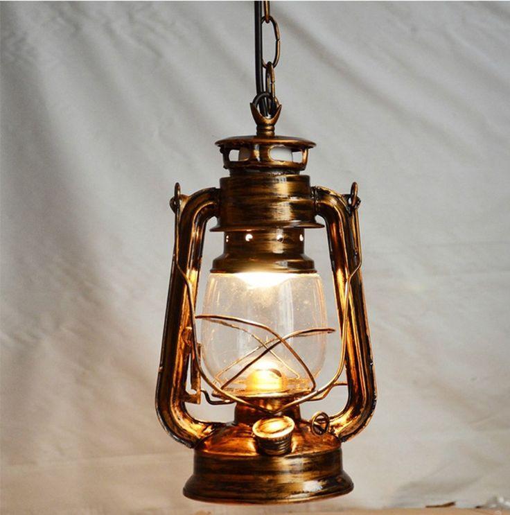 26.55$  Buy now - http://ali58w.shopchina.info/go.php?t=32796803039 - Retro American countryside brief vintage nostalgi lantern kerosene pendant lights lamp base antique Cinnamon color Camping lamp  26.55$ #magazineonlinewebsite