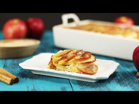 Met de geur van appel, kaneel en suiker had dit toetje zo uit oma's keuken kunnen komen. De aroma uit de oven blijft nog wel even hangen.