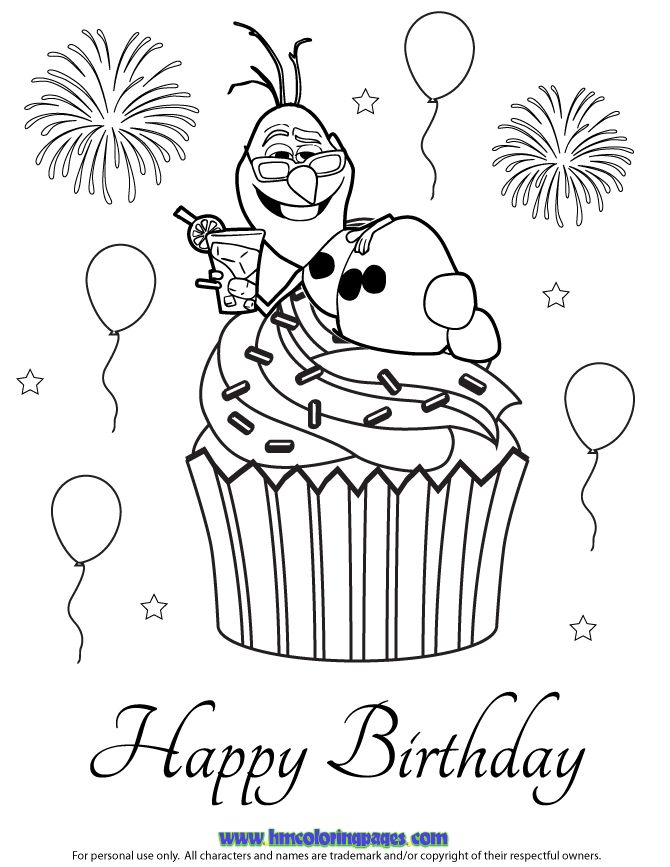 24 best Disney Frozen Birthday Coloring Pages images on ...