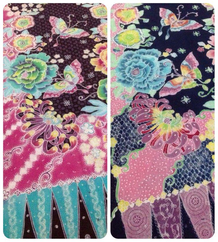 Hokontul batik, designed by Bayu Aria. From Yogyakarta. Flowers in unique pattern. And soft color background. Beautiful handrawn Indonesian Batik