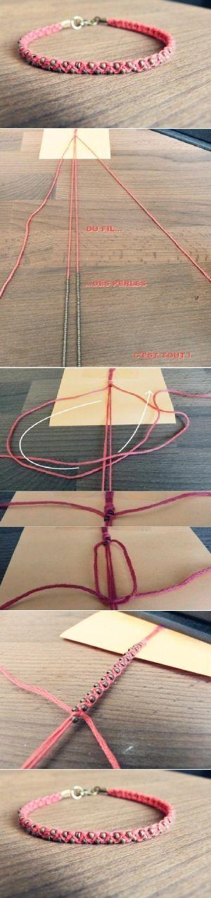 DIY Just a Weave Bracelet.